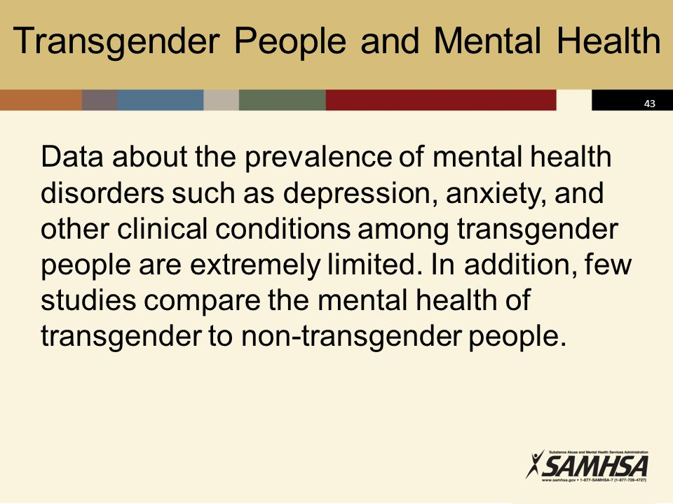Transgender People and Mental Health
