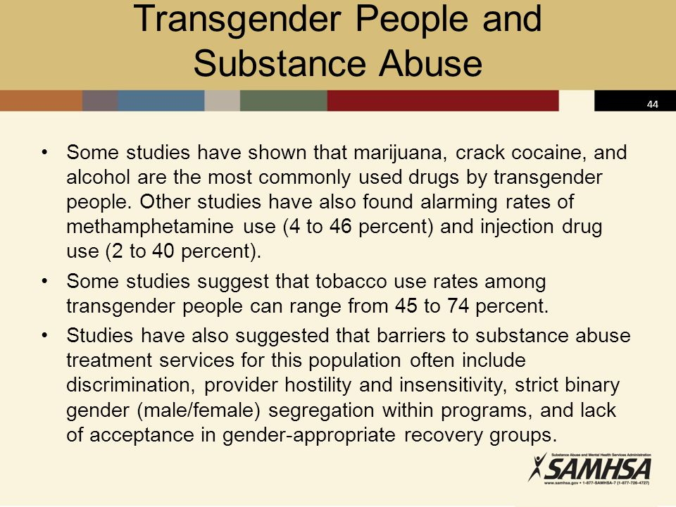 Transgender People and Substance Abuse