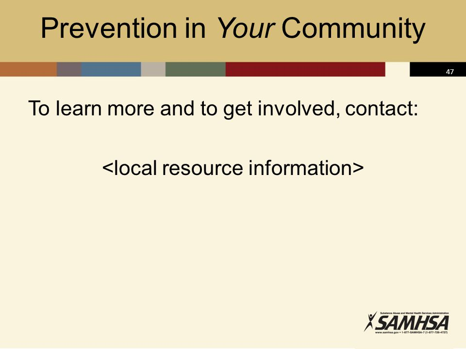 Prevention in Your Community