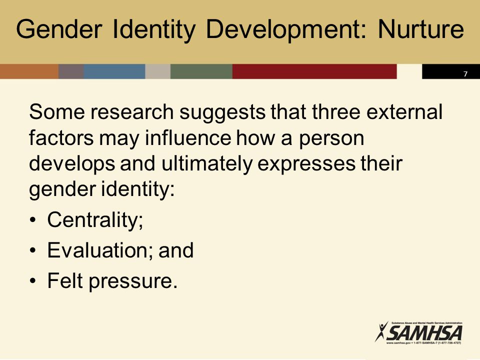 Gender Identity Development: Nurture