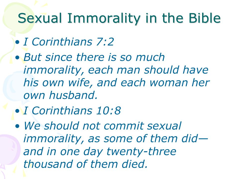 Sexual Immorality in the Bible