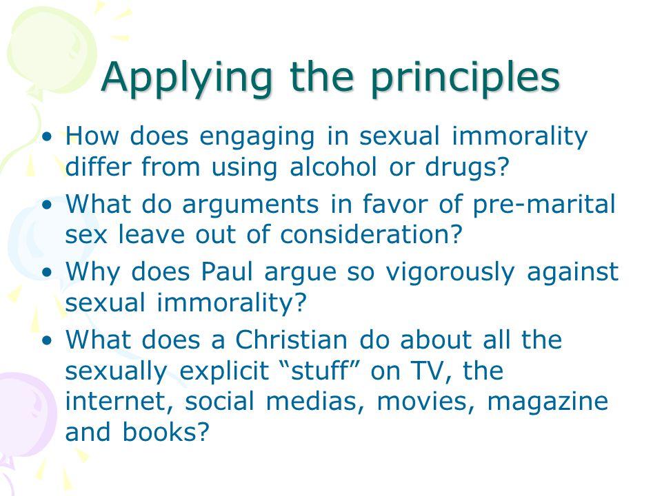 Applying the principles