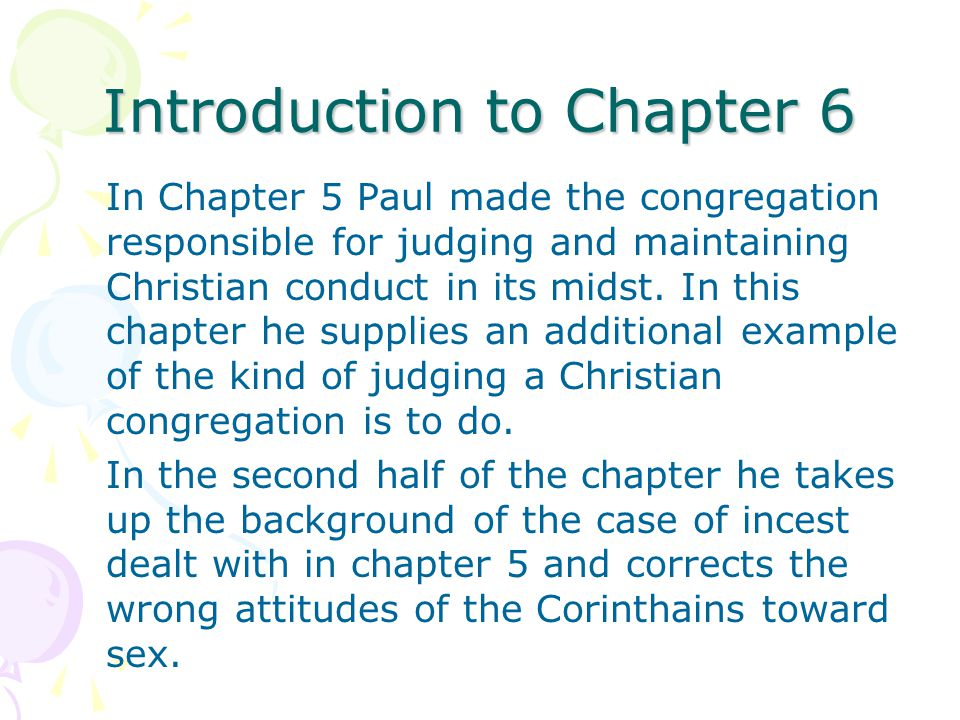 Introduction to Chapter 6