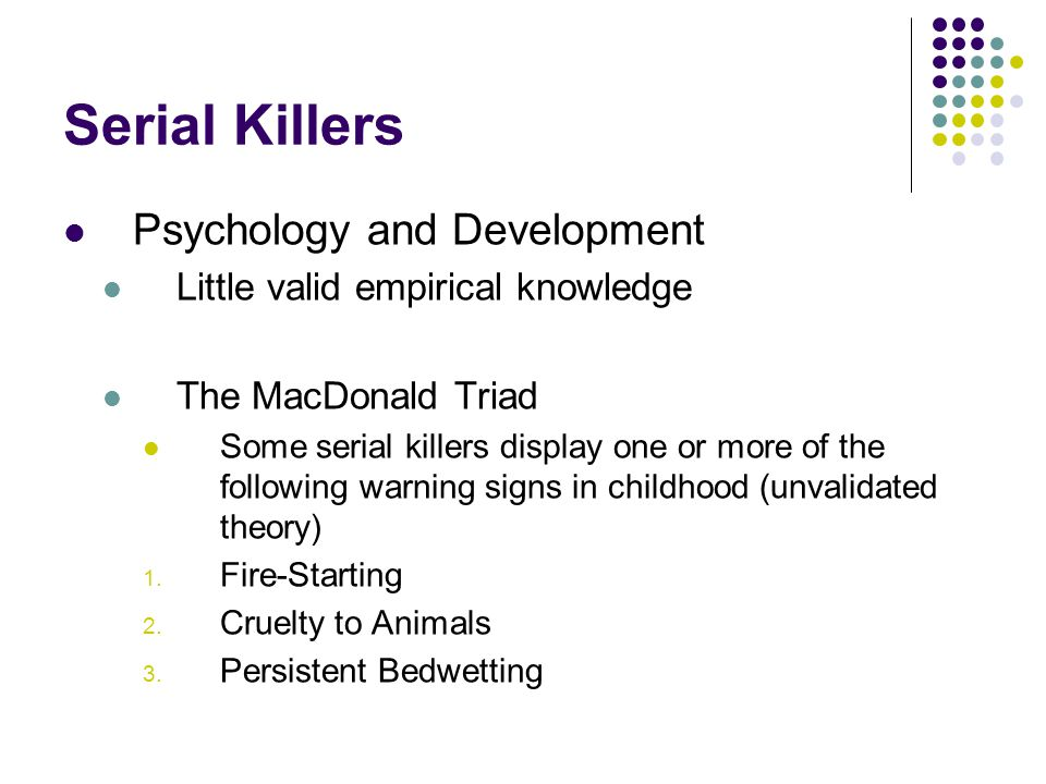 Serial Killers Psychology and Development