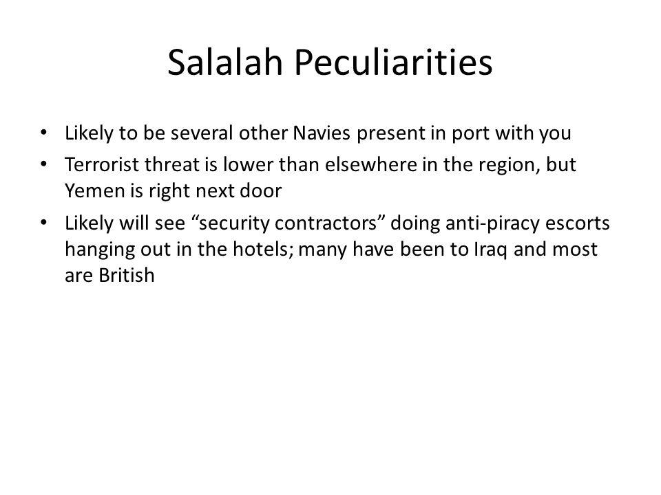 Salalah Peculiarities