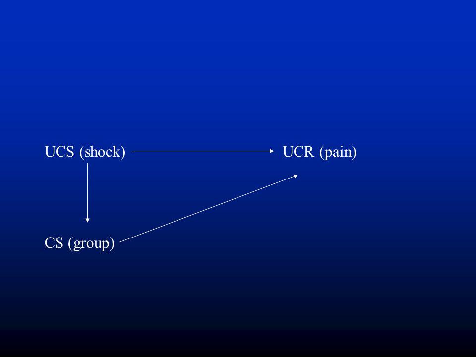 UCS (shock) UCR (pain) CS (group)