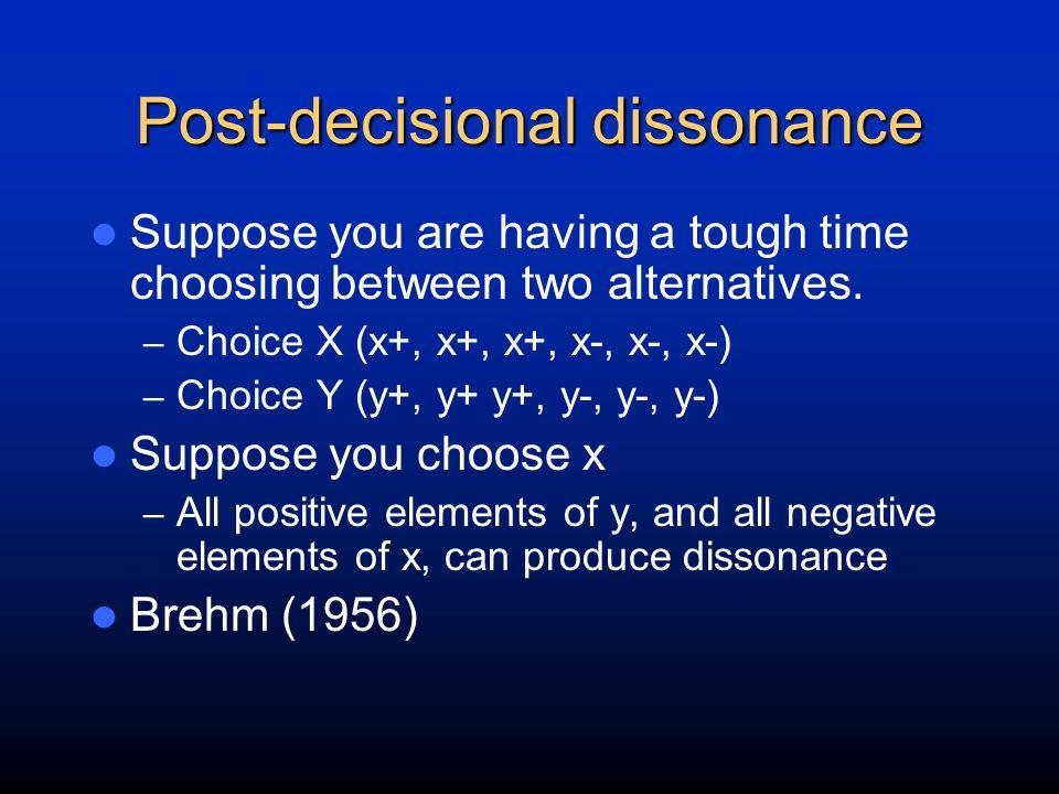 Post-decisional dissonance