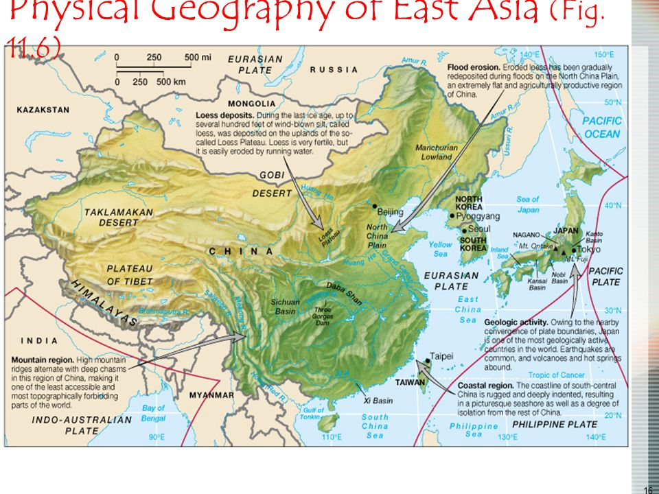 Physical Geography of East Asia (Fig. 11.6)