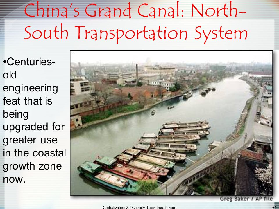 China's Grand Canal: North-South Transportation System