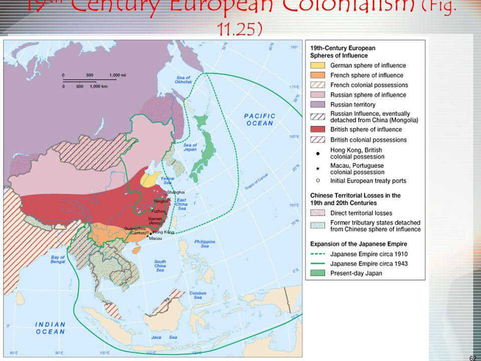 19th Century European Colonialism (Fig. 11.25)