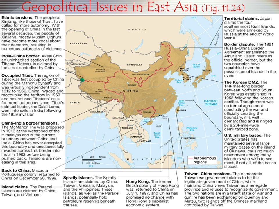 Geopolitical Issues in East Asia (Fig. 11.24)