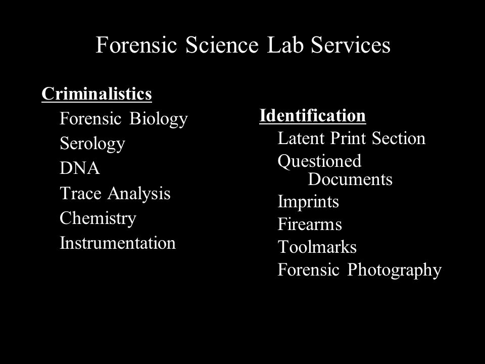 Forensic Science Lab Services