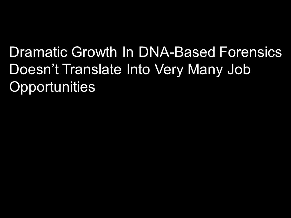Dramatic Growth In DNA-Based Forensics