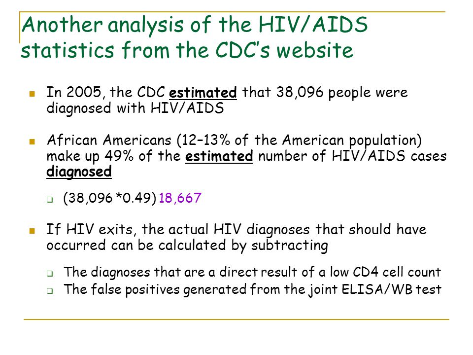 Another analysis of the HIV/AIDS statistics from the CDC's website