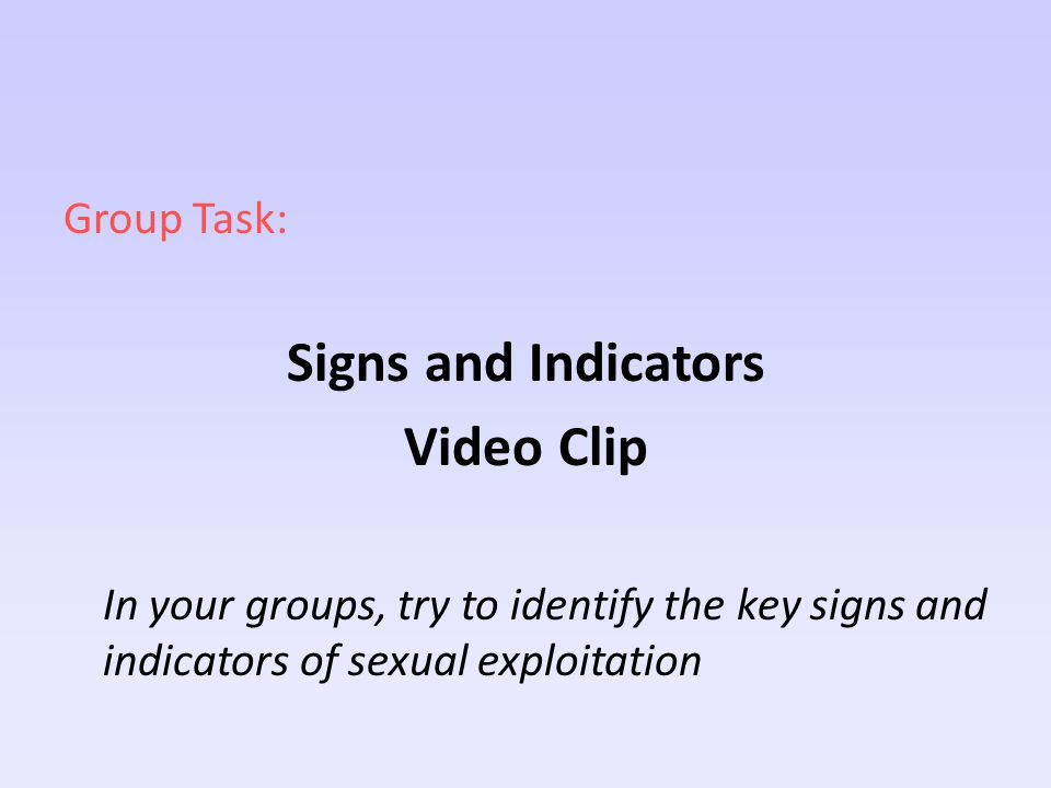 Signs and Indicators Video Clip