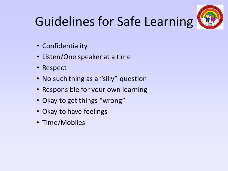 Guidelines for Safe Learning