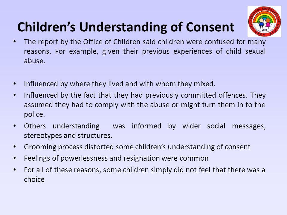 Children's Understanding of Consent