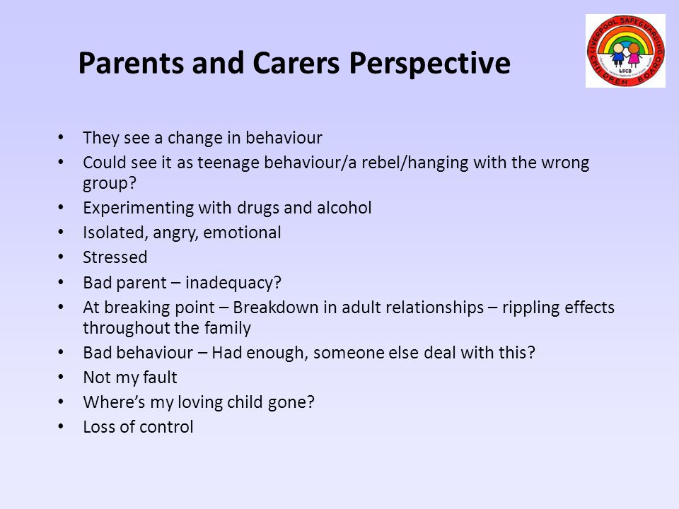 Parents and Carers Perspective