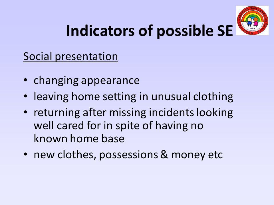 Indicators of possible SE
