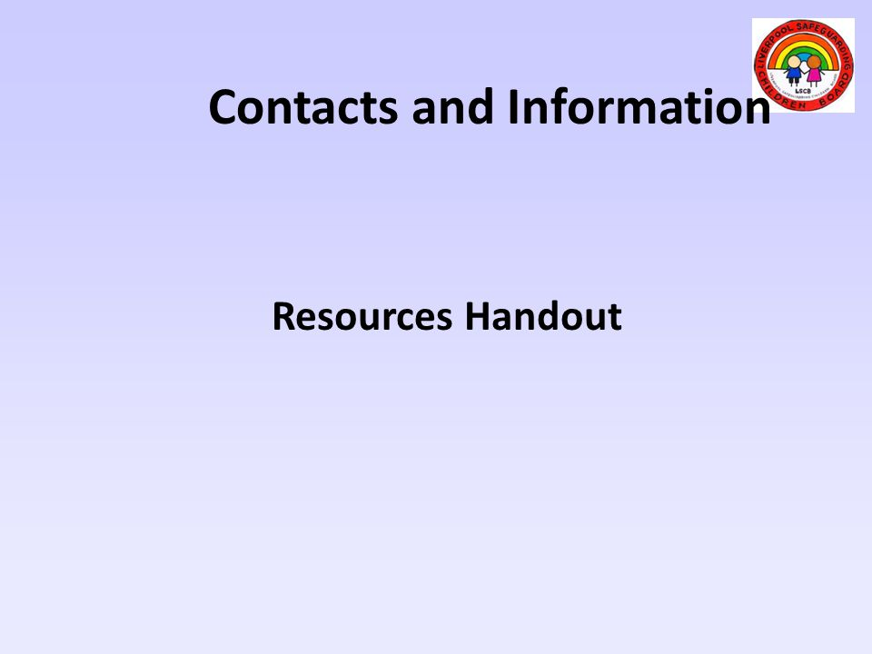 Contacts and Information