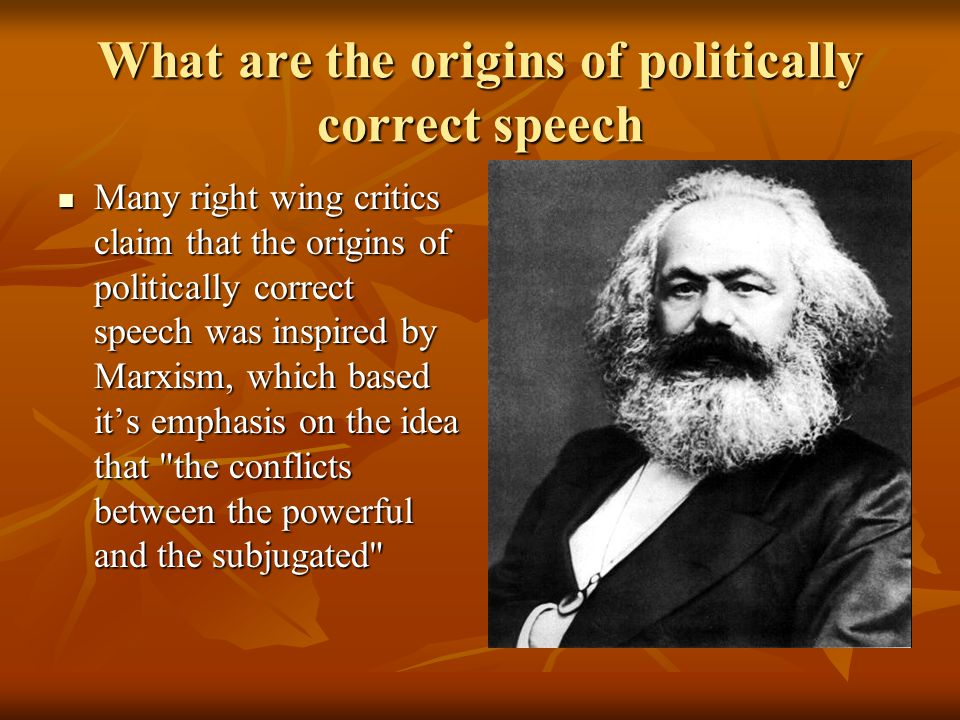 What are the origins of politically correct speech