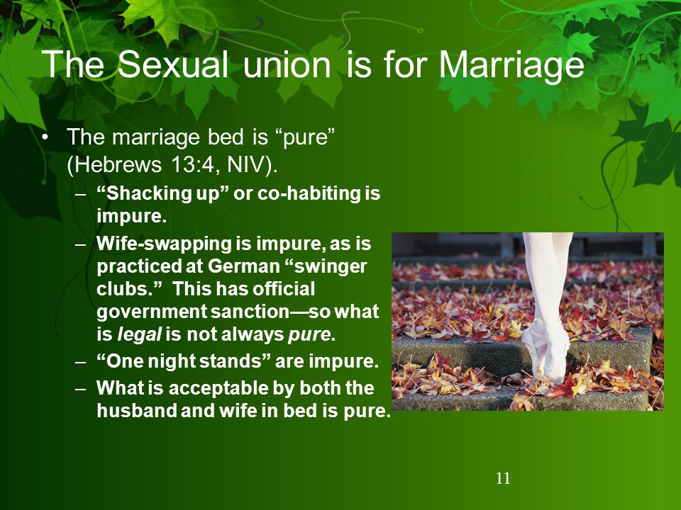 The Sexual union is for Marriage
