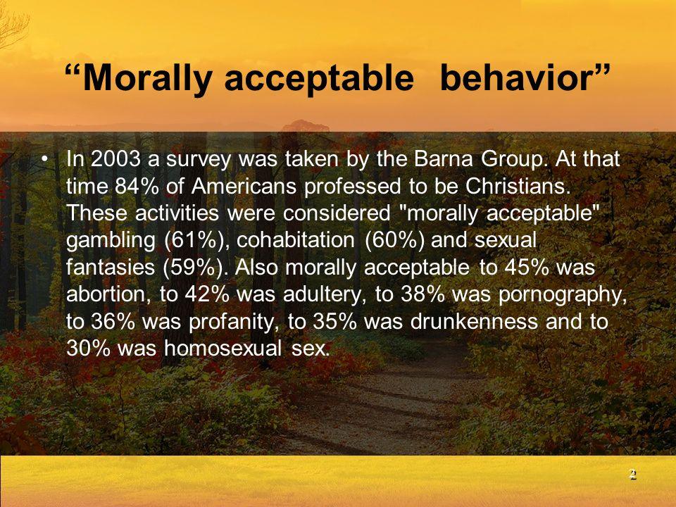 Morally acceptable behavior