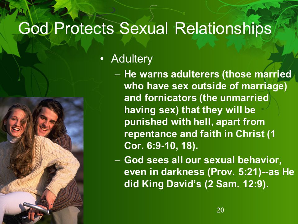 God Protects Sexual Relationships
