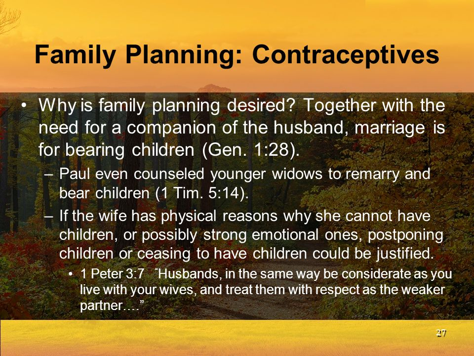 Family Planning: Contraceptives