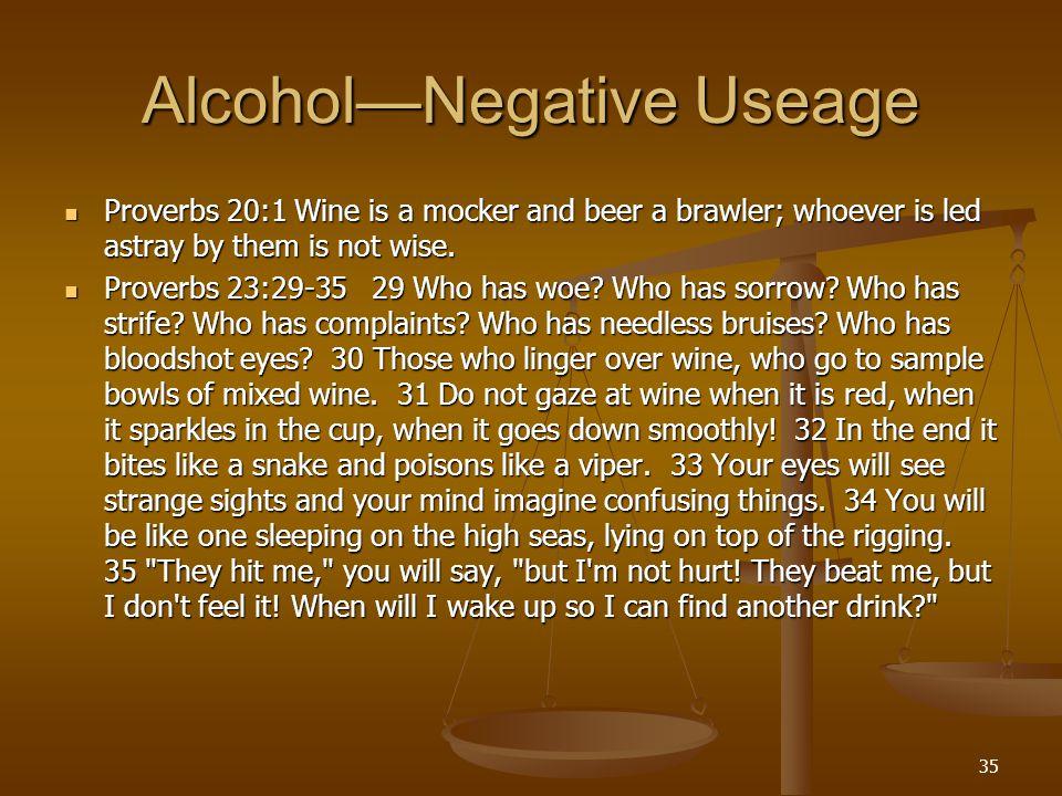 Alcohol—Negative Useage