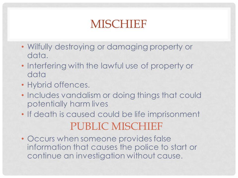 Mischief PUBLIC MISCHIEF