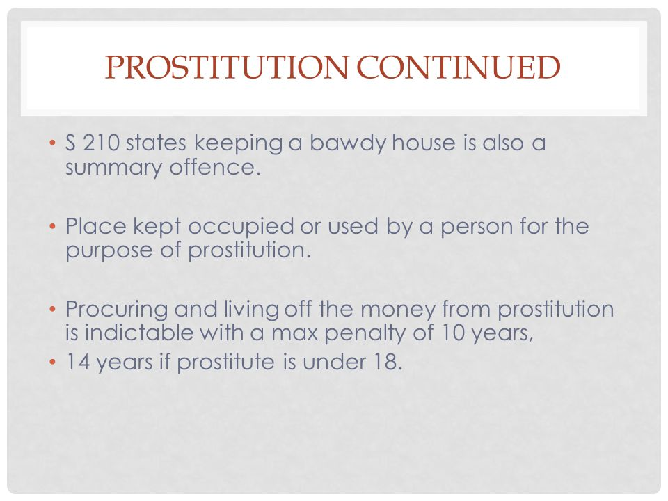 Prostitution continued