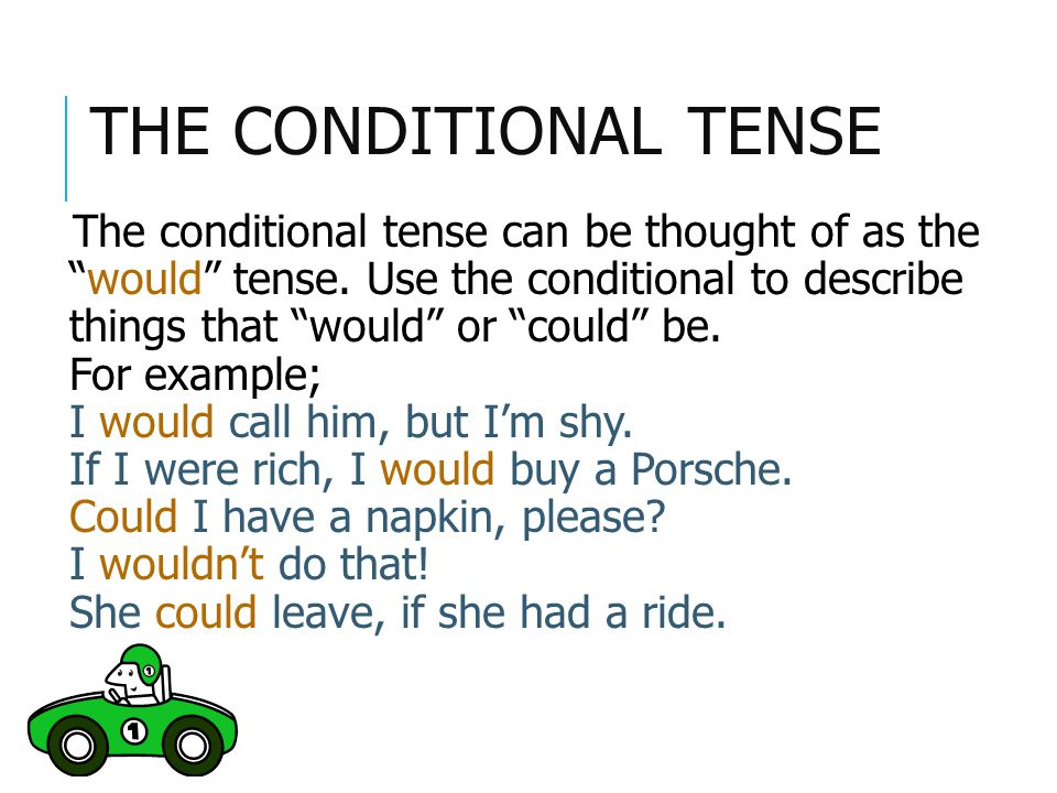 The Conditional Tense