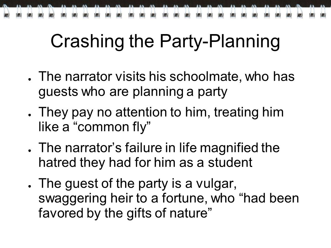 Crashing the Party-Planning