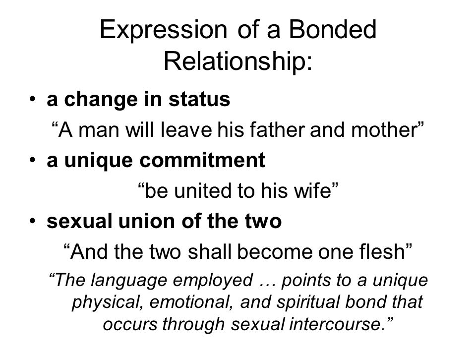 Expression of a Bonded Relationship: