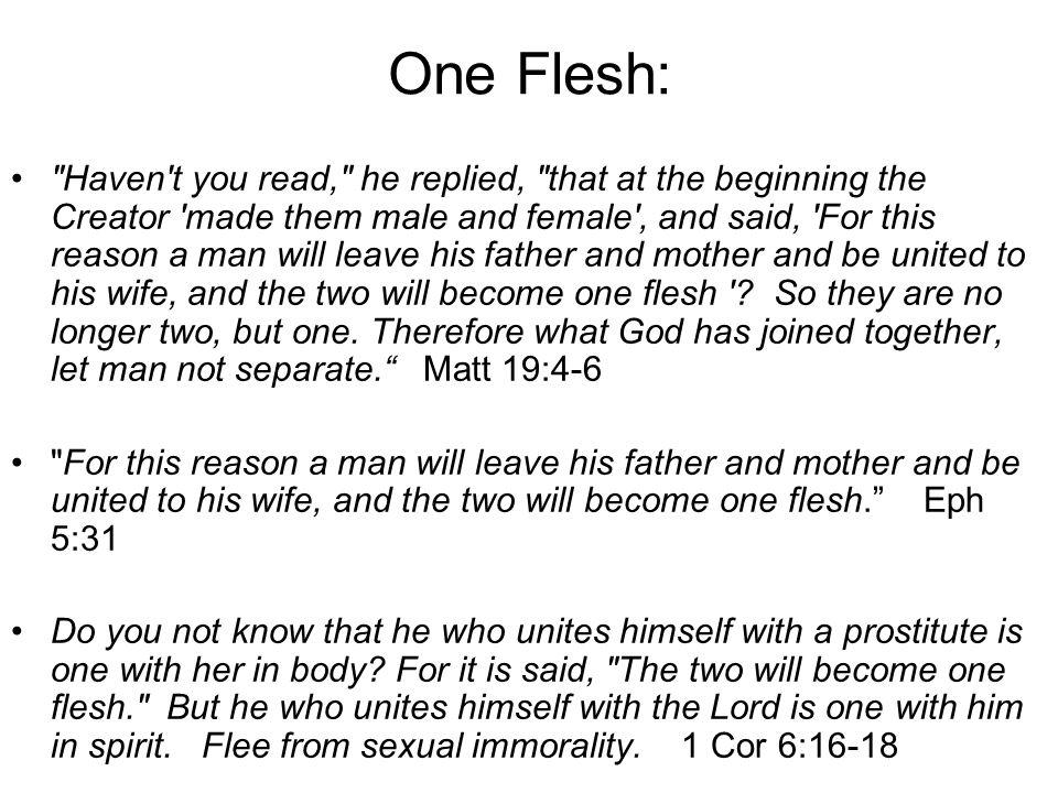 One Flesh: