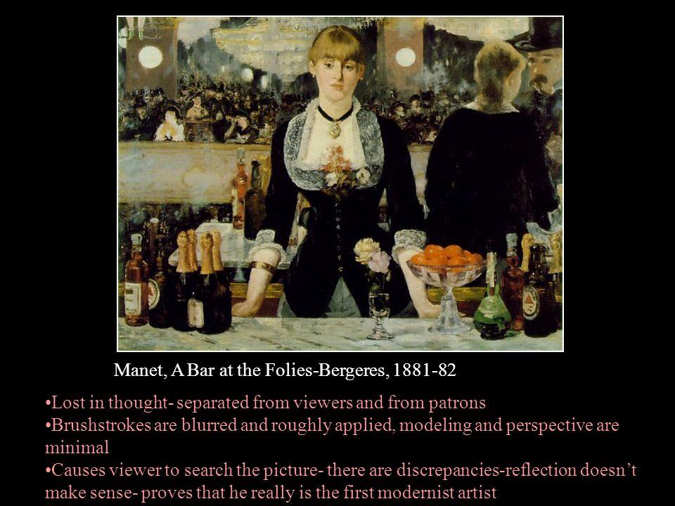 Manet, A Bar at the Folies-Bergeres, 1881-82