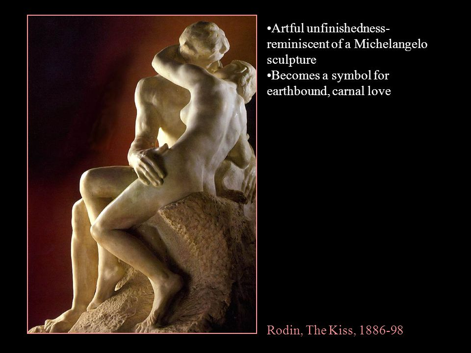 Artful unfinishedness- reminiscent of a Michelangelo sculpture