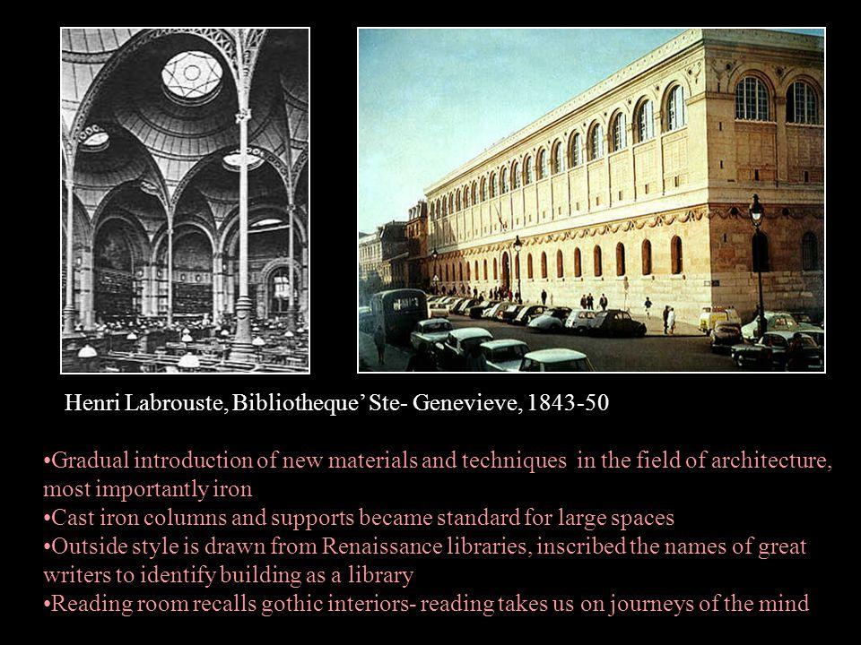 Henri Labrouste, Bibliotheque' Ste- Genevieve, 1843-50