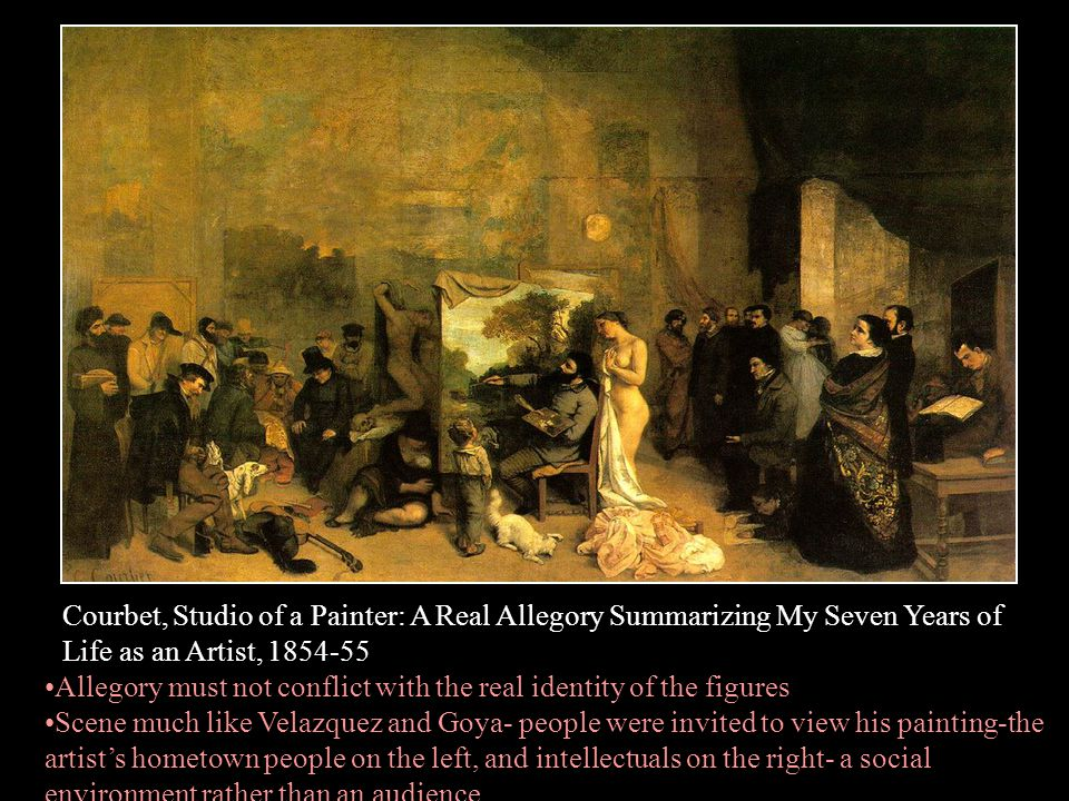 Courbet, Studio of a Painter: A Real Allegory Summarizing My Seven Years of Life as an Artist, 1854-55