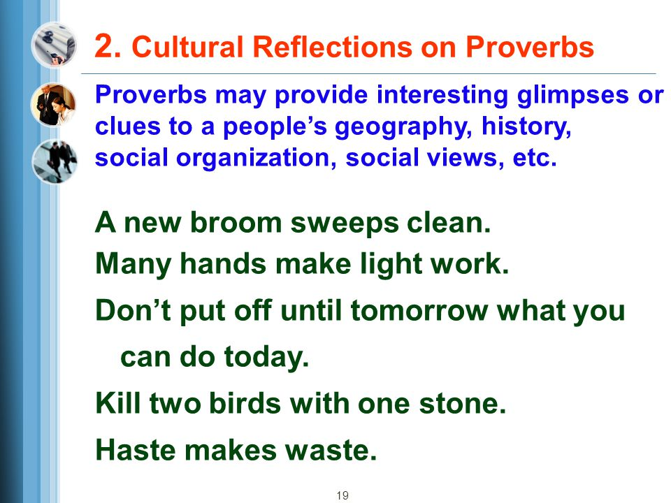 2. Cultural Reflections on Proverbs