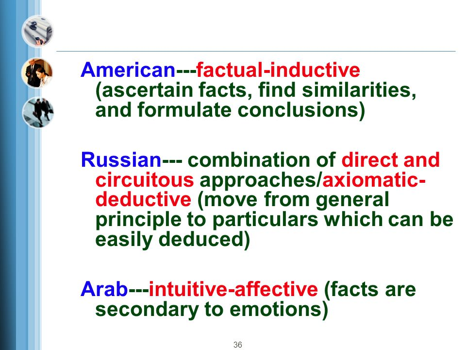 American---factual-inductive (ascertain facts, find similarities, and formulate conclusions)