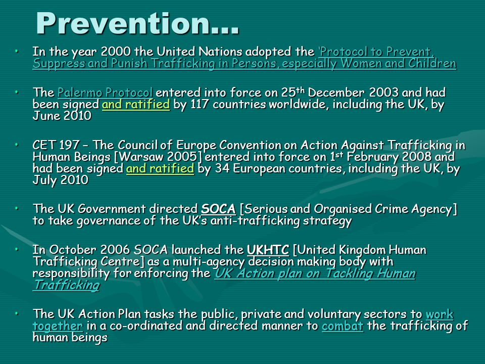 Prevention…