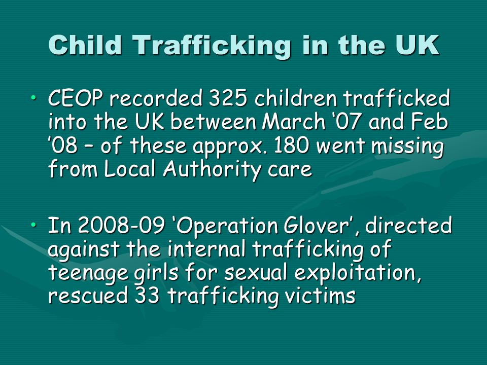 Child Trafficking in the UK