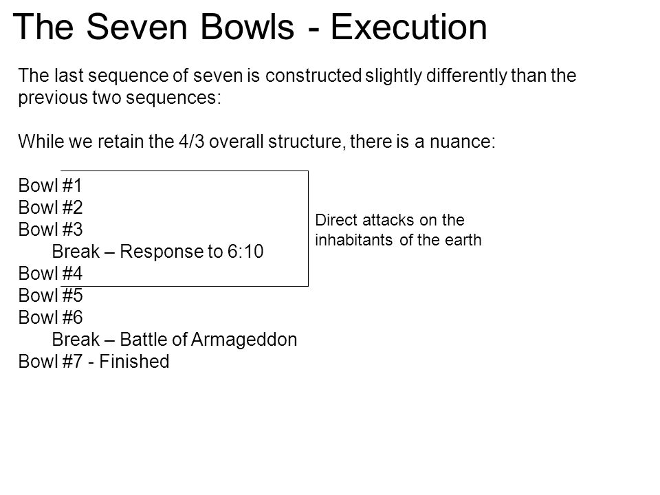 The Seven Bowls - Execution
