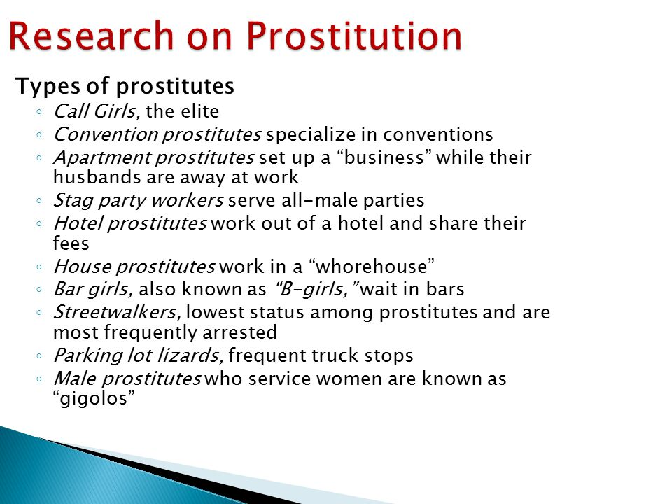 Research on Prostitution