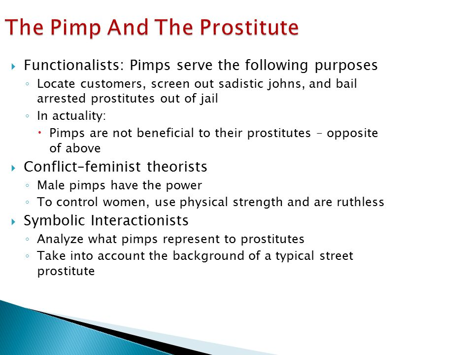 The Pimp And The Prostitute