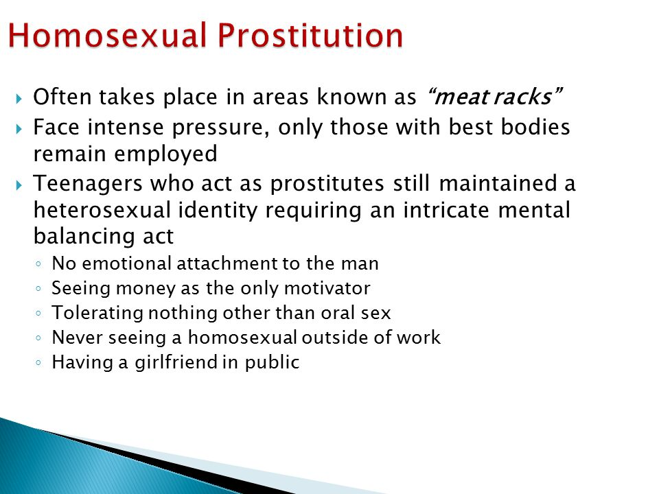 Homosexual Prostitution
