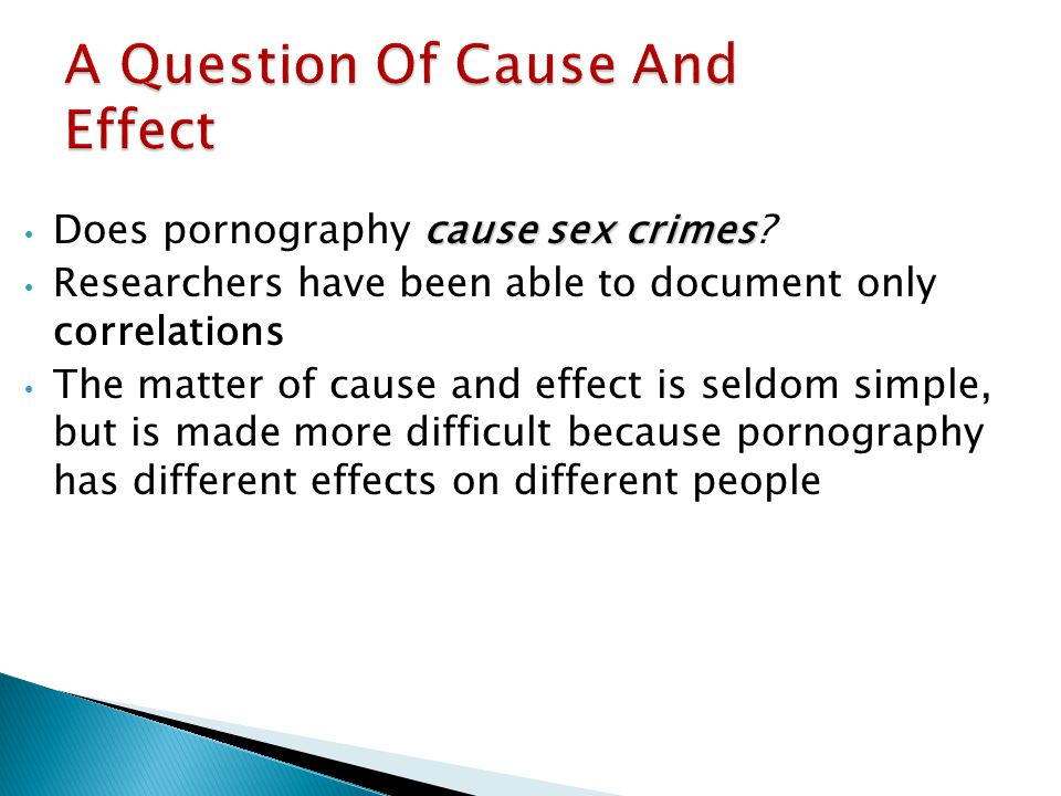 A Question Of Cause And Effect