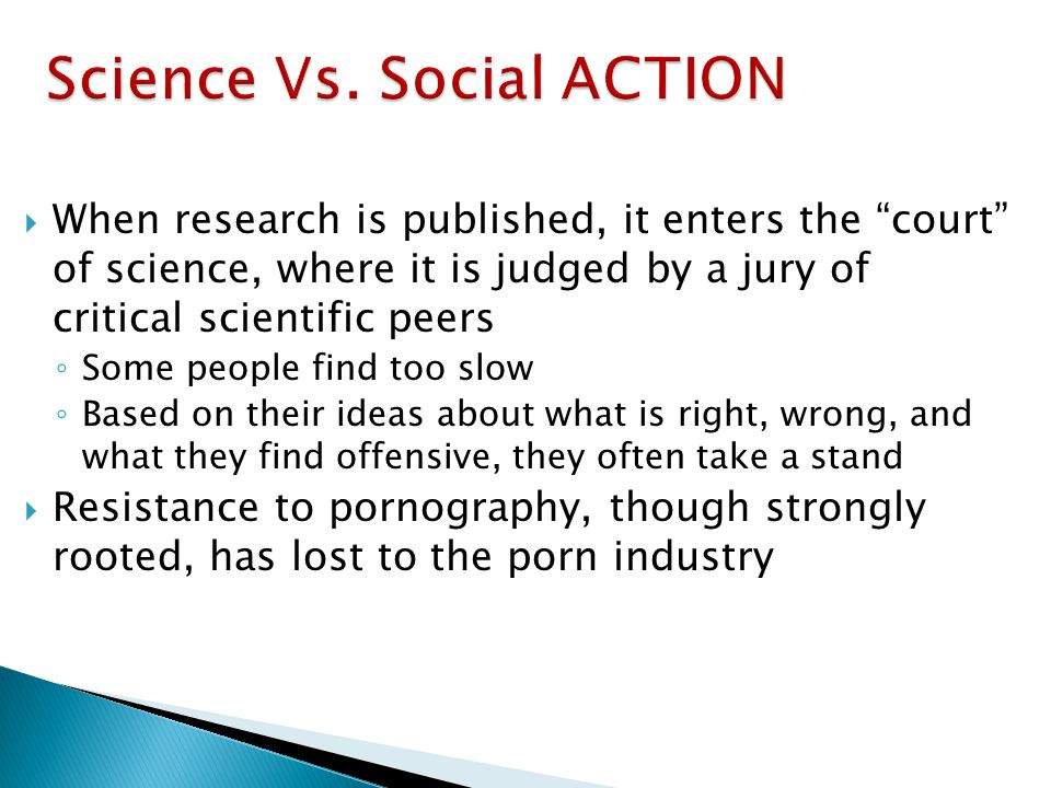 Science Vs. Social ACTION